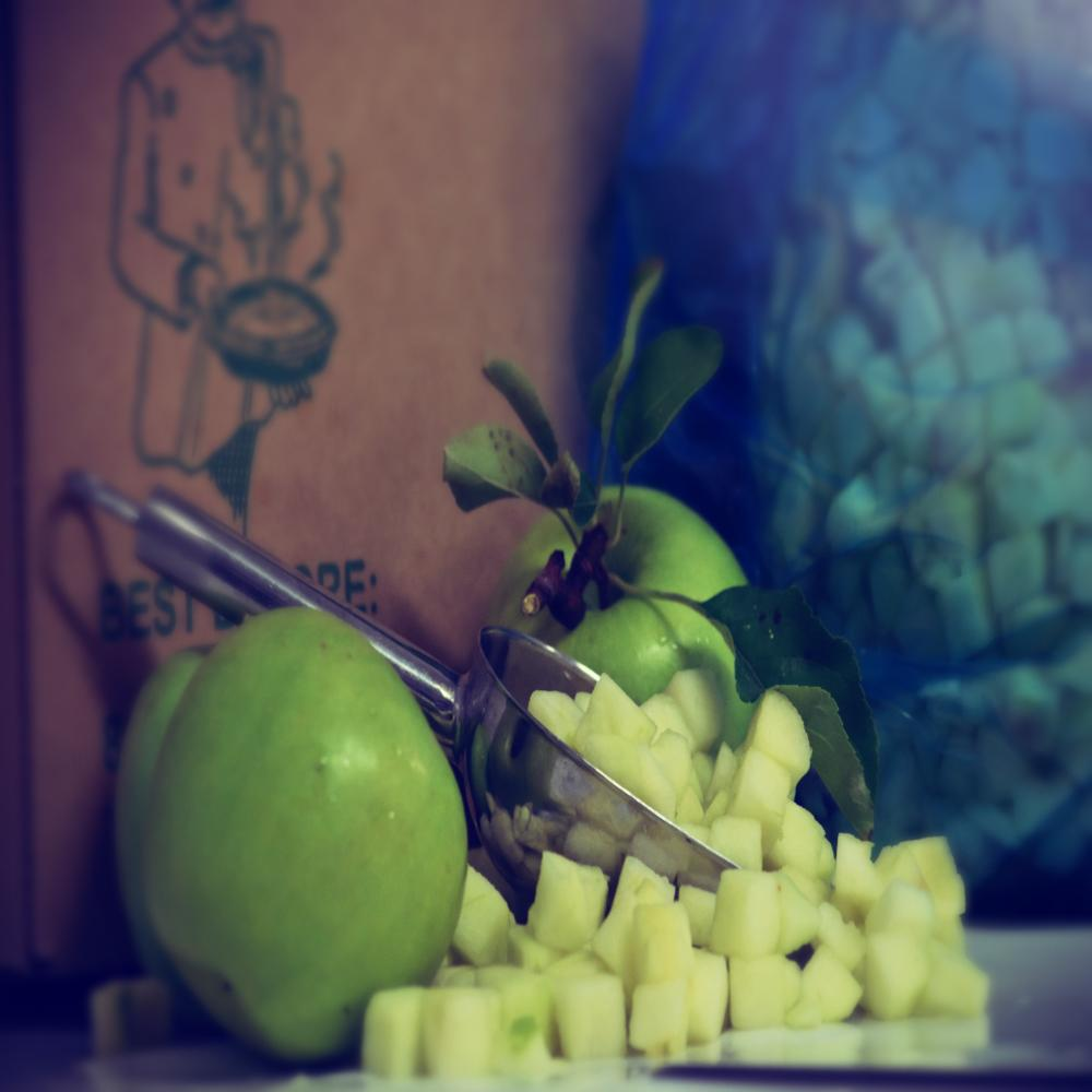 Pastry Cooks Fresh Diced Apple